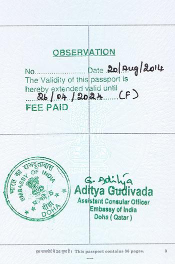 Passport Observation